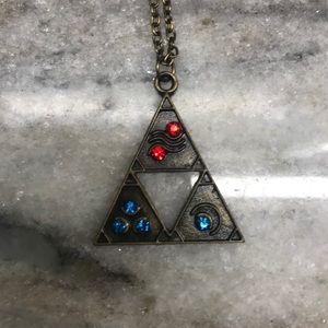 Legend of Zelda Colorful Triforce Necklace